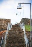 Путь лестницы утеса Стоковые Фото