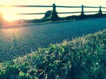 Путь захода солнца Стоковое фото RF
