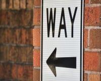 Путь знака одного Стоковые Изображения RF