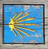путь знака святой дороги пилигримов james деревянный Стоковые Фотографии RF