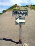 путь знака Стоковое фото RF