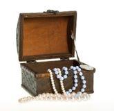 путь золота монетки клиппирования комода pearls сокровище Стоковые Изображения RF