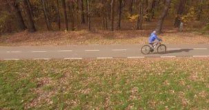 Путь и осень велосипеда сток-видео