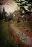 путь кладбища Стоковые Фотографии RF