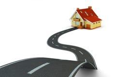 Путь концепция самонавести, недвижимости и навигации иллюстрация вектора