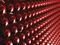 путь красного цвета шариков Стоковые Фотографии RF