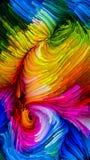 Путь красочной краски Стоковая Фотография RF