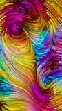 Путь красочной краски Стоковое Изображение