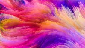 Путь красочной краски Стоковое фото RF