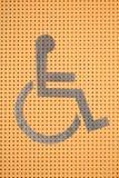 Путь кресло-коляскы, знак кресло-коляскы Стоковая Фотография