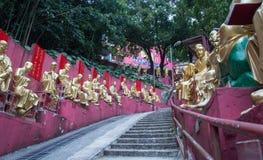 Путь к виску Shatin 10000 Buddhas, Гонконгу Стоковое Изображение RF