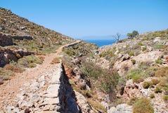 Путь к Гере, Tilos стоковая фотография