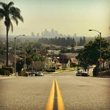 Путь к городскому ЛА Стоковое Изображение