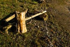 Путь к деревянному месту вырезывания стоковые фотографии rf
