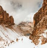 Путь к доломитам Италии Sella Ronda Стоковые Фото