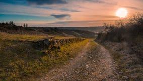 Путь к заходу солнца Стоковое Изображение RF