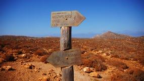 Путь к лагуне Balos Стоковая Фотография