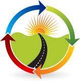 Путь к логотипу силы цели иллюстрация штока