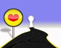 Путь к сердцу Стоковое Фото