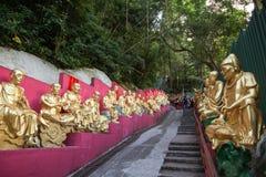 Путь к 10 тысяч монастырю Buddhas в Гонконге Стоковое Фото