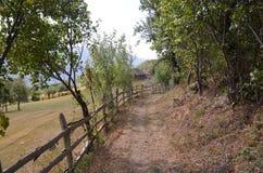 Путь к школе в деревне Стоковое Изображение RF