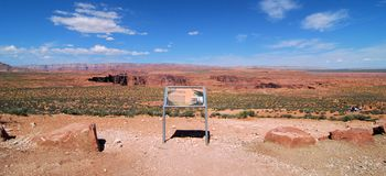 Путь к Horseshoe загибу Аризоне Стоковое фото RF