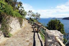 Путь моря Ischia стоковые изображения
