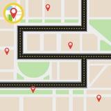 Путь навигации Стоковые Фотографии RF