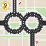 Путь навигации Стоковое Изображение