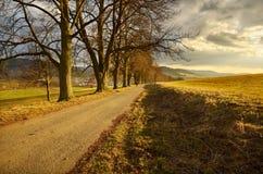 Путь над деревней Стоковое фото RF