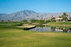 Путь на поле для гольфа в Калифорнии Стоковые Фотографии RF