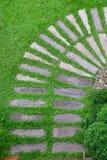 Путь на траве Стоковая Фотография