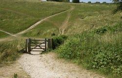 Путь на южных спусках, Брайтон, Англия стоковые фото