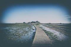 Путь ноги к замку Элизабета Стоковое фото RF
