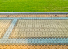 Путь ноги с травой Стоковая Фотография RF