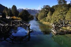 Путь 7 озер в ангостуре Ла виллы, Аргентине стоковое фото rf