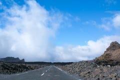 Путь около вулкана teide в Тенерифе Испании Стоковая Фотография