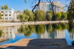 путь парка города Стоковая Фотография