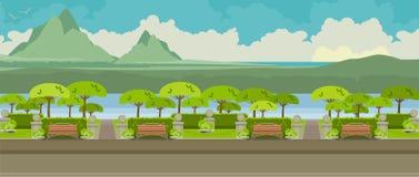 путь парка города иллюстрация штока