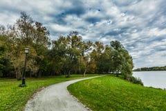 путь парка осени близкий вверх Стоковые Фото