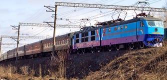 путь пассажирского поезда Стоковая Фотография