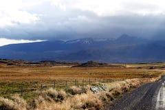 Путь песка в дневном свете Исландия Стоковые Изображения