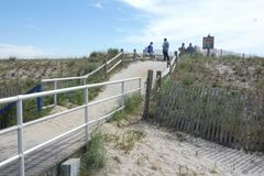 Путь пляжа Атлантик-Сити Стоковое фото RF