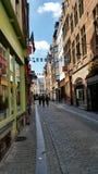 Путь прогулки в Брюсселе Стоковые Изображения RF