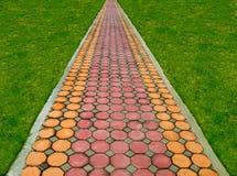 Путь прогулки в парке стоковое изображение rf