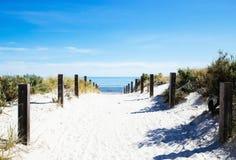 Путь пляжа с деревянной загородкой Стоковые Фото