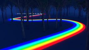 Путь радуги через лес Стоковое Изображение RF