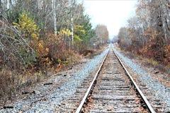 Путь рельса осени Стоковые Фотографии RF