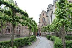 Путь сада на Бельгии стоковая фотография rf