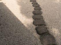 путь сада японский каменный Стоковая Фотография RF